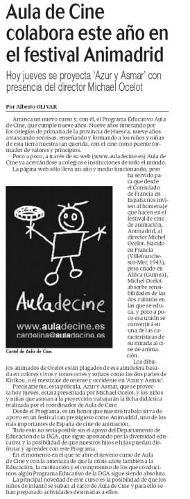 Aula de Cine colabora con Animadrid