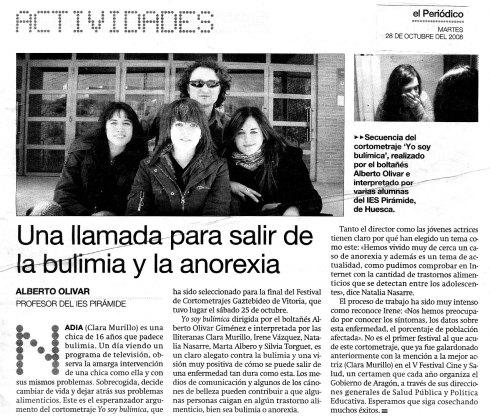 Artículo publicado el 28 de octubre de 2008 en el Periódico de Aragón