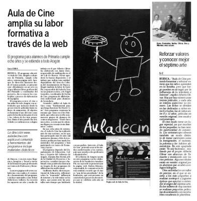 8 años de aula de cine y presentacion de la web